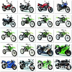 Kawasaki Bikes in White Background Wallpapers