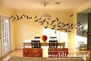 Летучие мышки и мандаринки-тыквочки на Halloween